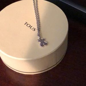 "Tous 24"" necklace with charm new sterling silver"